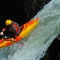Jacob Cruser spots his landing on Split Falls.- Salmon River Canyon