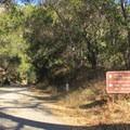 A paved park road provides access to the Big Sur River Gorge Trail.- Big Sur River Gorge