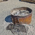 Fire pits are available at Twin Lakes State Beach.- Twin Lakes State Beach