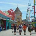 The Santa Cruz Beach Boardwalk is the oldest amusement park in California.- Santa Cruz Beach Boardwalk + Main Beach