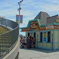 Ticketing to enter the amusement park.- Santa Cruz Beach Boardwalk + Main Beach