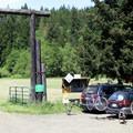 Parking at Black Rock.- Black Rock Mountain Bike Area