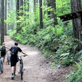 Walking up for another run.- Black Rock Mountain Bike Area