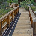 Entry to the Bench Trail in Pinnacles National Monument.- Bench Trail to High Peaks Loop