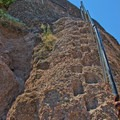 A steep section along the Bench Trail.- Bench Trail to High Peaks Loop