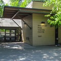 The visitor center is located in the east parking lot.- Discovery Park + Fort Lawton Historic Area