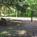 The playground in Discovery Park.- Discovery Park + Fort Lawton Historic Area