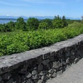 A designated viewpoint near the south pedestrian gate.- Discovery Park + Fort Lawton Historic Area