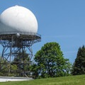 A giant radio tower stands near the park's highest point.- Discovery Park + Fort Lawton Historic Area