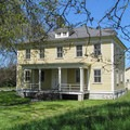 A historic fort building near Discovery Park Boulevard.- Discovery Park + Fort Lawton Historic Area