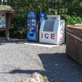 Firewood and ice near the entrance station.- Bay View State Park Campground