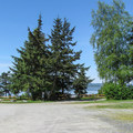 RV utility sites with views of Padilla Bay.- Bay View State Park Campground