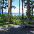 View of the Padilla Bay from a cabin.- Bay View State Park Campground