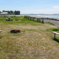 Day use picnic and beach area.- Bay View State Park Campground