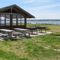 Day use shelter area.- Bay View State Park