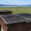 Large group barbecue grills.- Bay View State Park