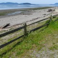 A view of the San Juan Islands from the day use area.- Bay View State Park
