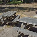 Day use ammenities include picnic tables and barbeque pit.- Palm Beach State Park