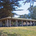 Reservable group picnic area.- Sunset State Beach