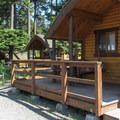 The campground has six cabins with views of Padilla Bay.- Bay View State Park
