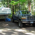 A large standard site (no RV utility hook-ups).- Camano Island State Park Campground