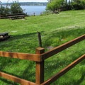 A day use picnic area at the north beach.- Camano Island State Park Campground