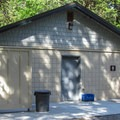 Restroom and shower facilities on the south loop.- Camano Island State Park Campground