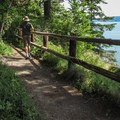 A viewpoint on the West Rim.- Camano Island State Park Loop Trails