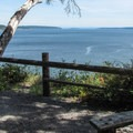 A viewpoint from the South Rim.- Camano Island State Park Loop Trails
