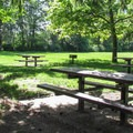 The day use picnic area.- Hovander Homestead Park
