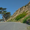 The lower parking lot.- Seacliff State Beach