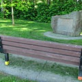 A veteran memorial site along the River Dike Trail.- River Dike Trail