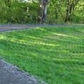A curve along the River Dike Trail.- River Dike Trail