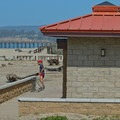 Restrooms are easily accessible from the beach.- Rio Del Mar State Beach