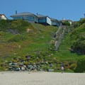A residential area surrounds Beer Can Beach.- Beer Can Beach