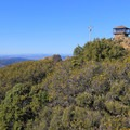 Gardner Fire Lookout on the summit of East Peak (2,571').- East Peak via Hogback + Fern Creek Trail