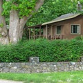 The two reservable bungalows are secluded from the other cabins.- Cama Beach State Park