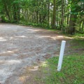 The Camano Island State Park entrance trailhead.- Cross Island Trail