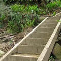 One of the final sets of stairs.- Rock Trail