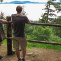 At 0.9 miles in, choose to take a 0.2-mile side trail to a viewpoint overlooking the Puget Sound.- Fragrance Lake Trail