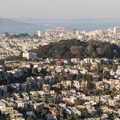 Looking onto Buena Vista Park, the large, forested knoll in center, from Twin Peaks. - Buena Vista Park