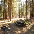 Typical campsite in Gorge Campground.- Gorge Campground