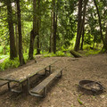 One of nine walk-in campsites in Paradise Point State Park Campground.- Paradise Point State Park Campground