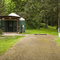 One of two yurt campsites in Paradise Point State Park Campground.- Paradise Point State Park Campground