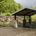 Day use picnic shelter in Mount Talbert Nature Park.- Mount Talbert Nature Park
