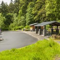 Parking and picnic area in Mount Talbert Nature Park.- Mount Talbert Nature Park