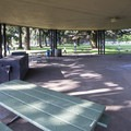 Picnic and barbecue shelter in Peninsula Park.- Peninsula Park