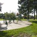 Water fountain playground in Peninsula Park.- Peninsula Park