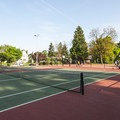 Peninsula Park tennis courts.- Peninsula Park