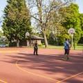 Peninsula Park basketball courts.- Peninsula Park